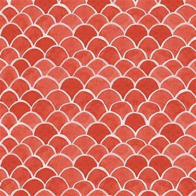 Sanibel Y3207-4 Light Red Fish Scales by Sue Zipkin for Clothworks