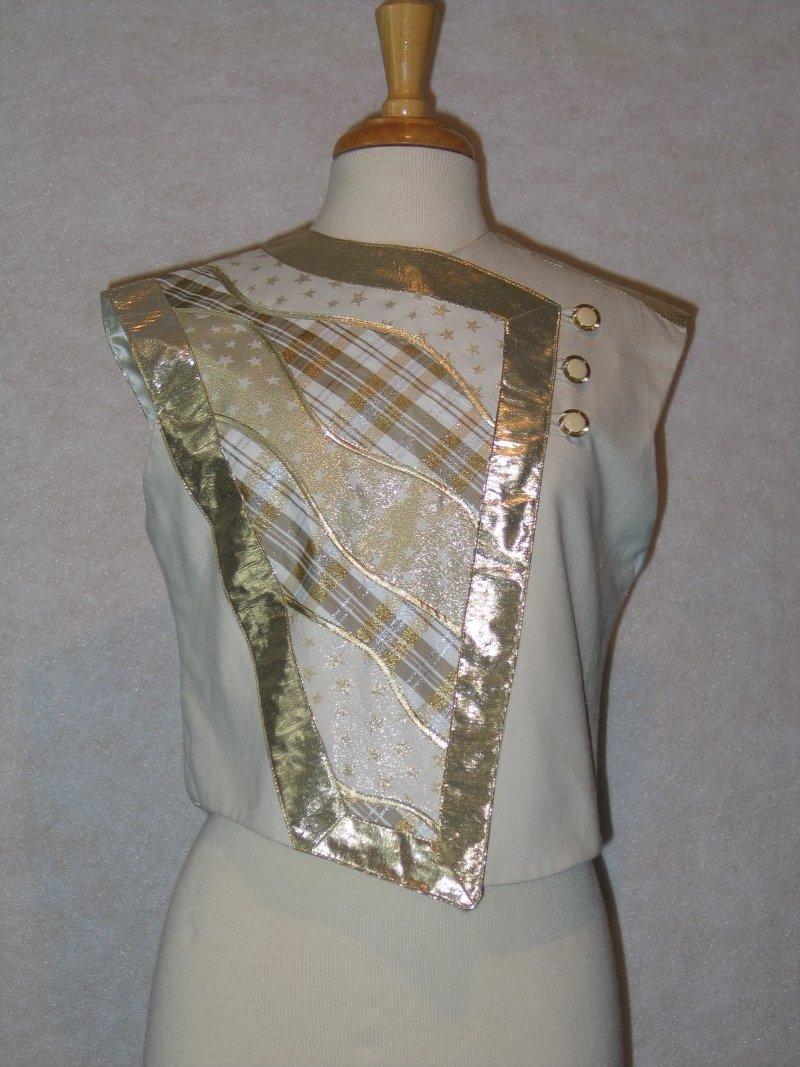 Panel Play Vest - White/gold metallic