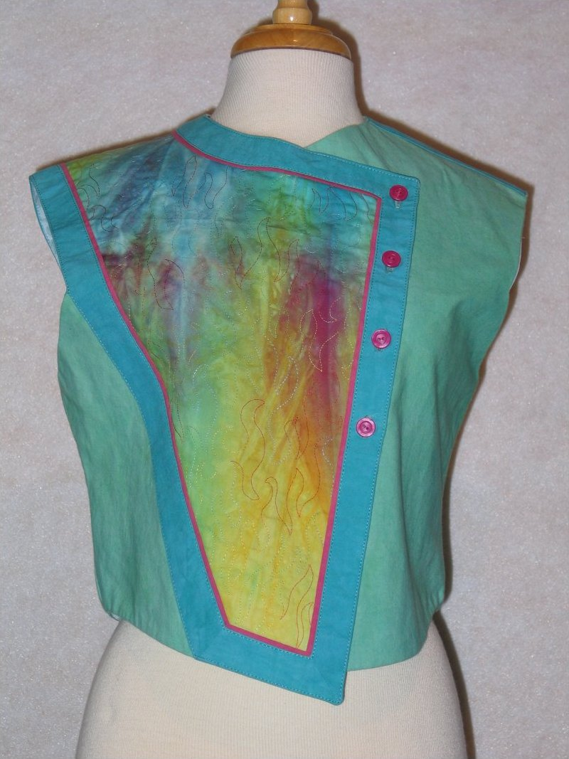 Panel Play Vest - Hand dyed panel