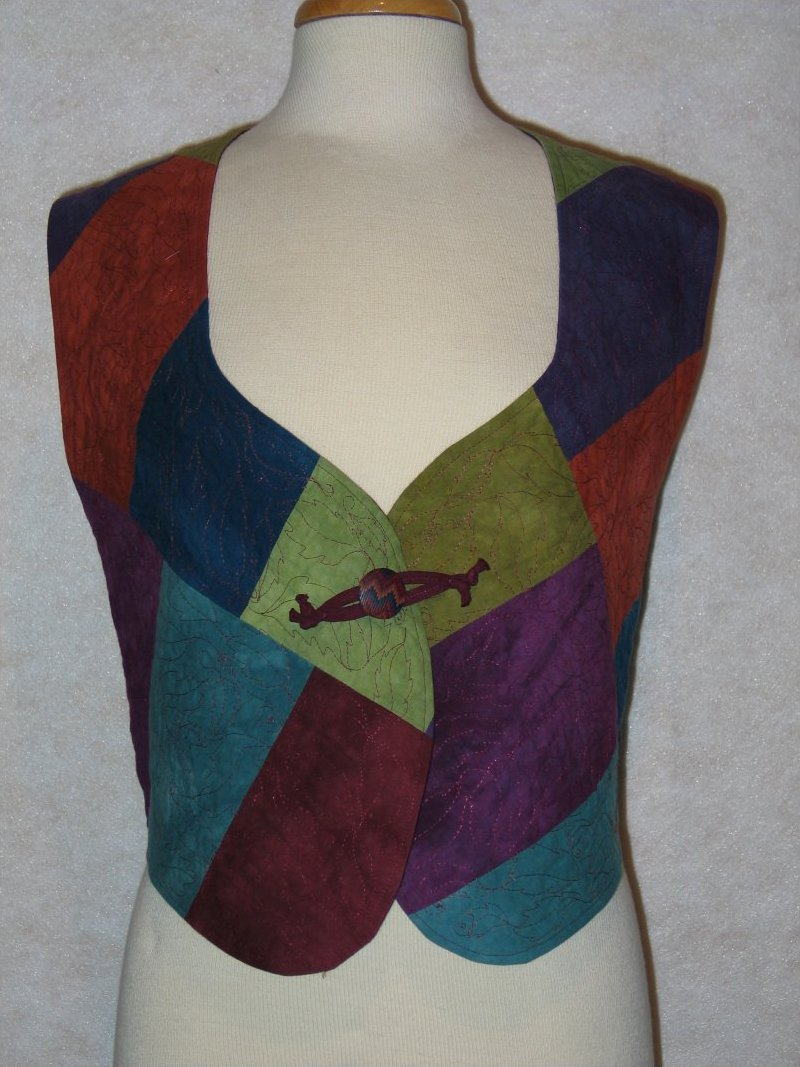 Pieces of Eight - Hand dyed with leaf quilting