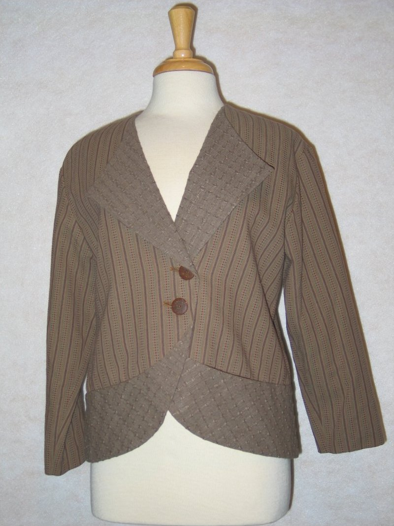 City Wraps Jacket - Brown Japanese yarn dyed
