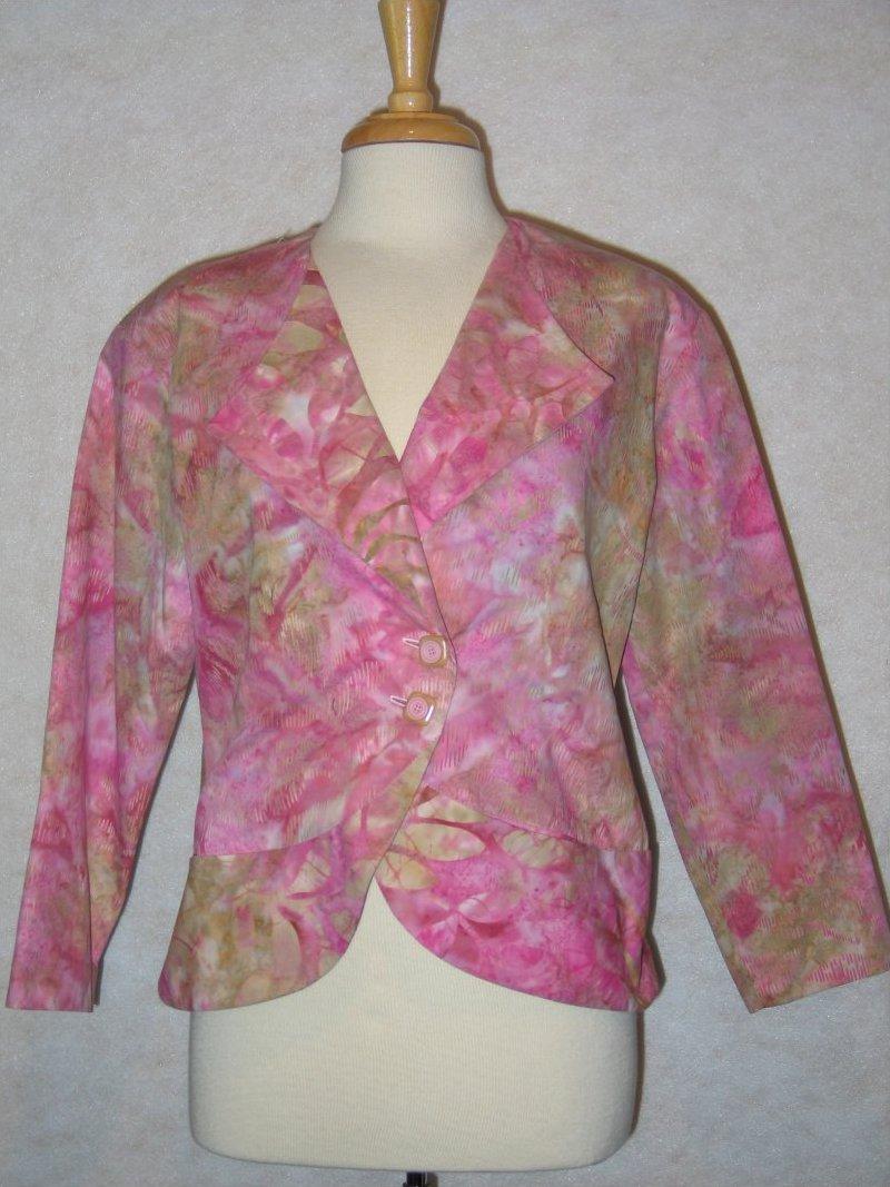 City Wraps Jacket - Pink Batiks