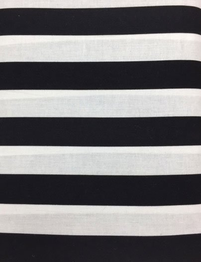 Black and White 1 Heavy Weight Cotton Stripe
