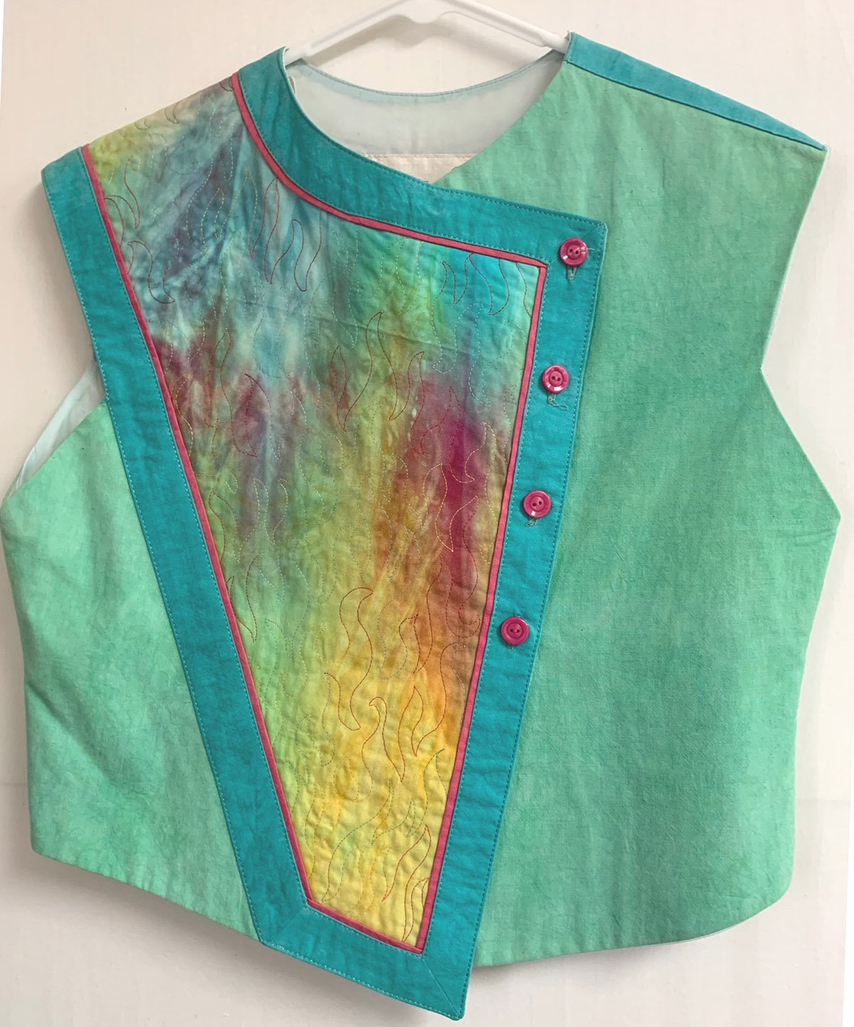 Green Cherrywood Panel Play Vest, Small