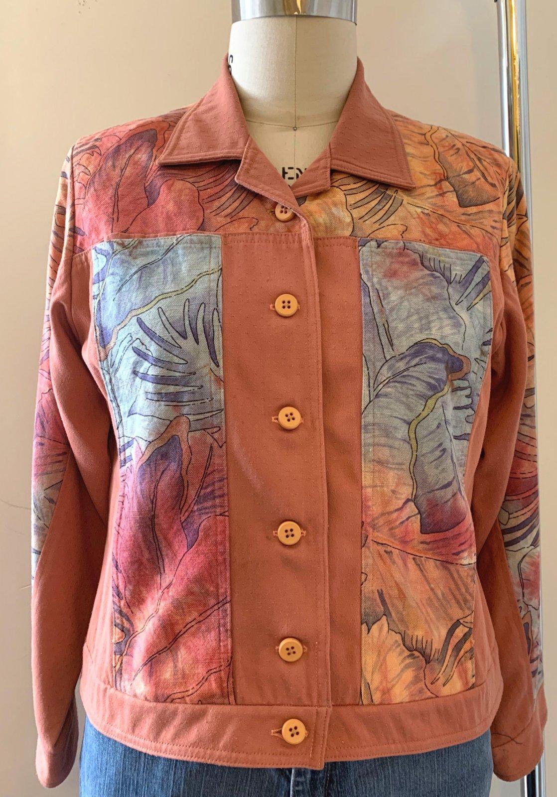 Jambalaya Jacket with Hand Dyed Fabric