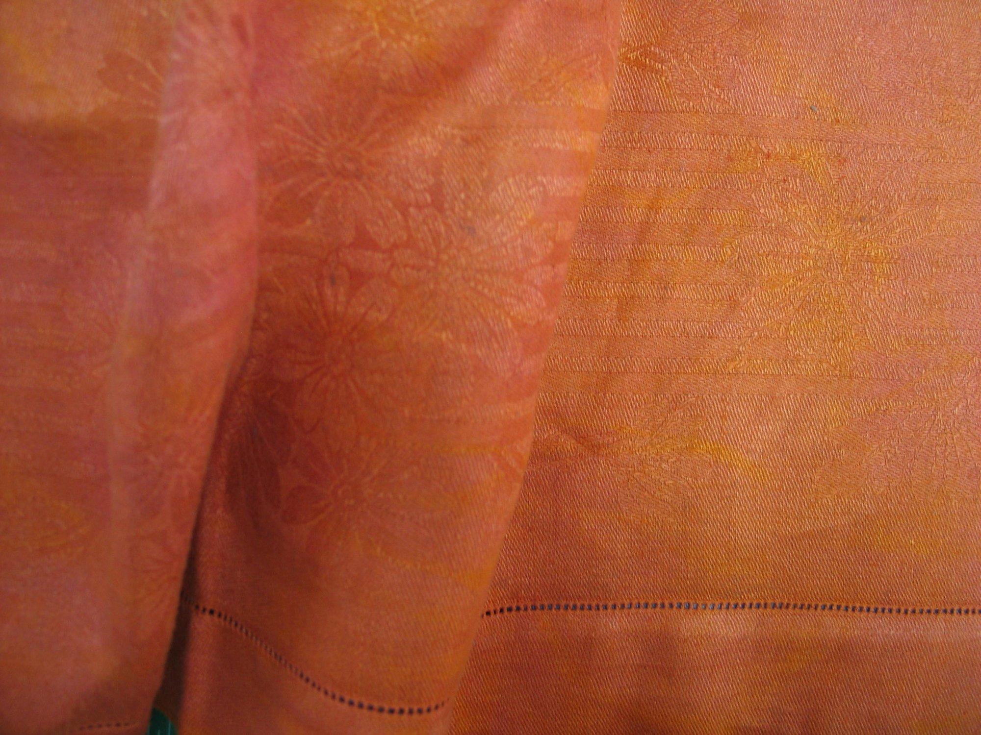 Overdyed Damask Tablecloth - Burnt Orange