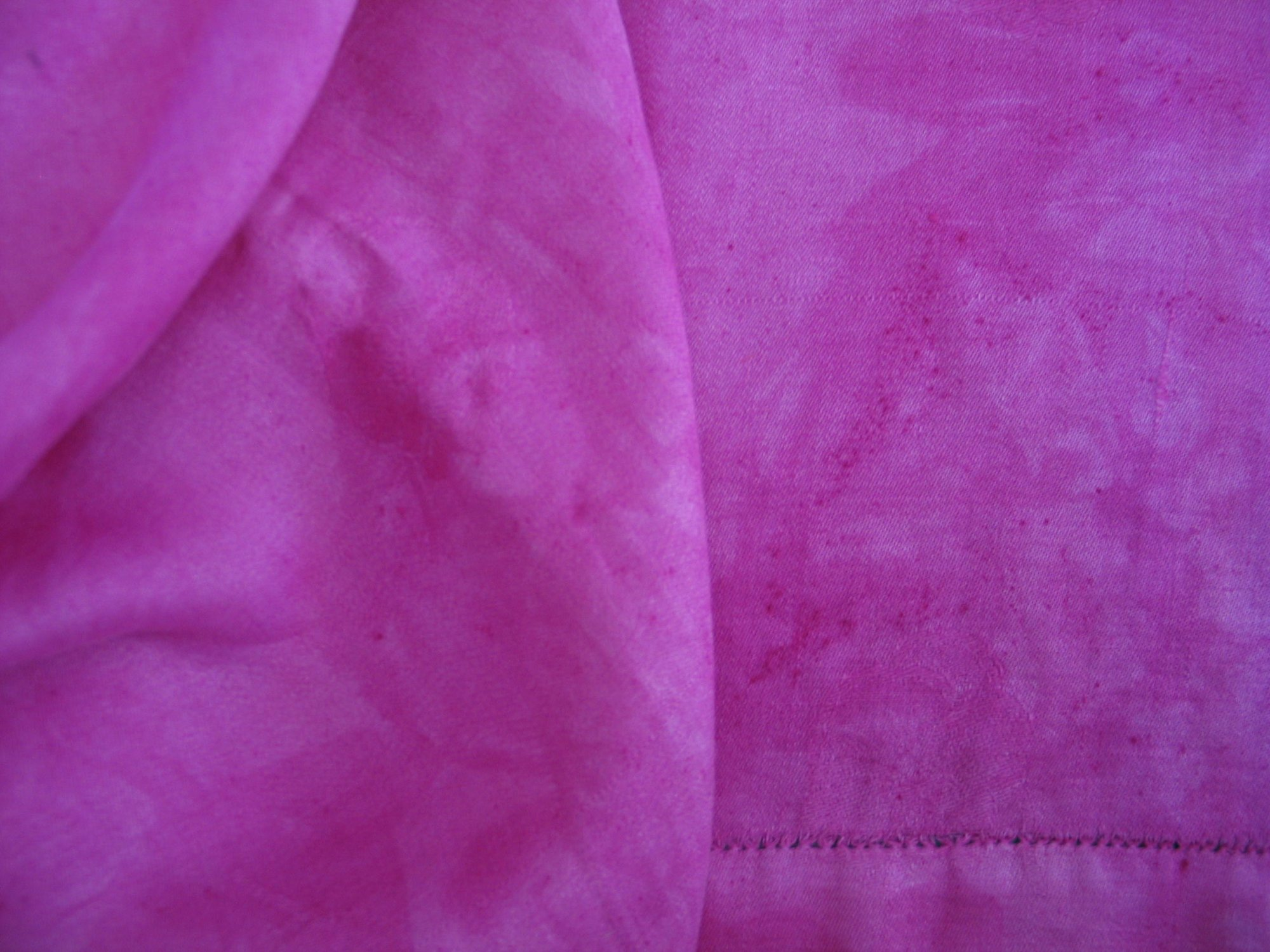 Overdyed Damask Tablecloth - Fuschia