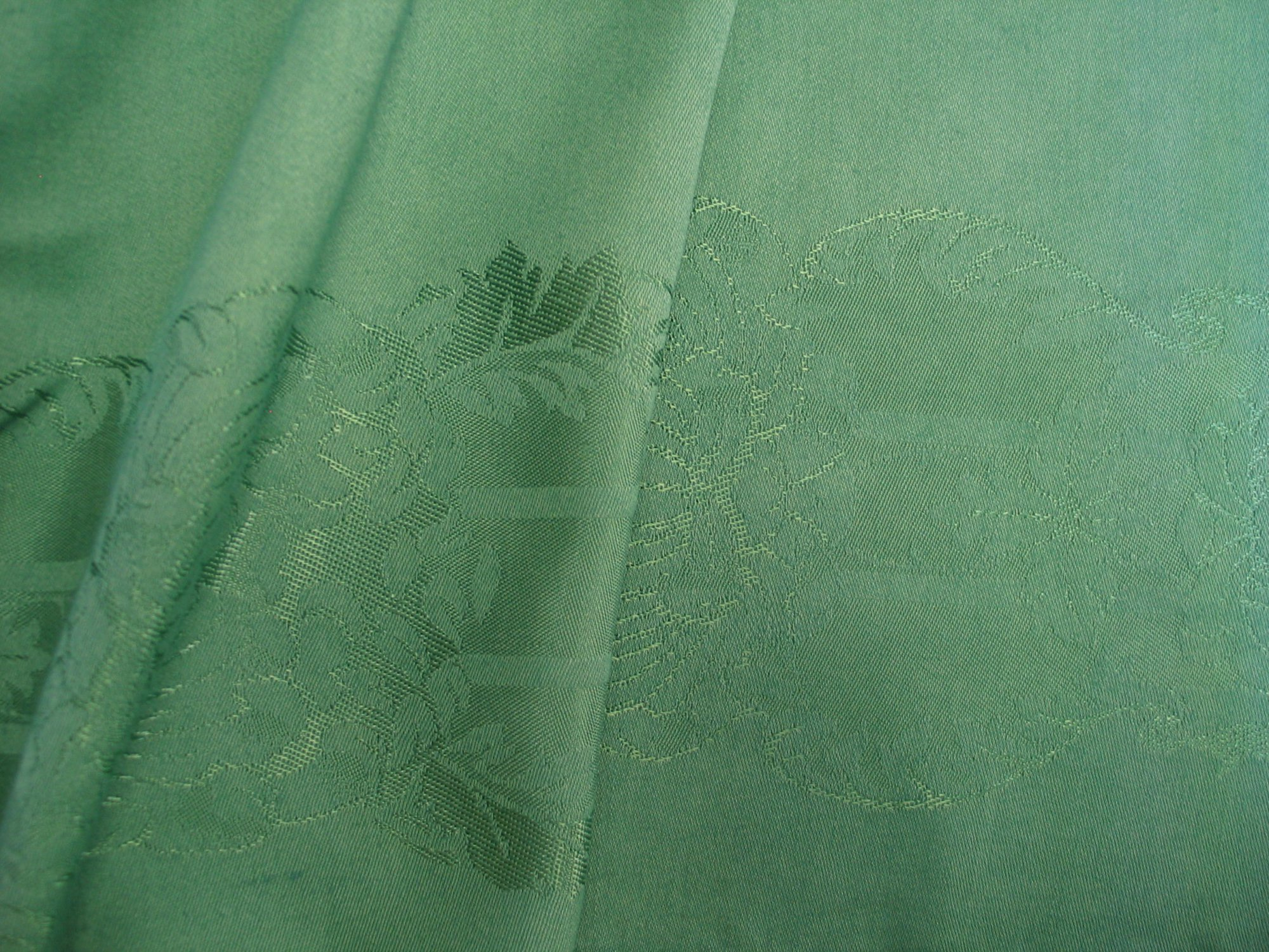 Overdyed Damask Tablecloth - Green