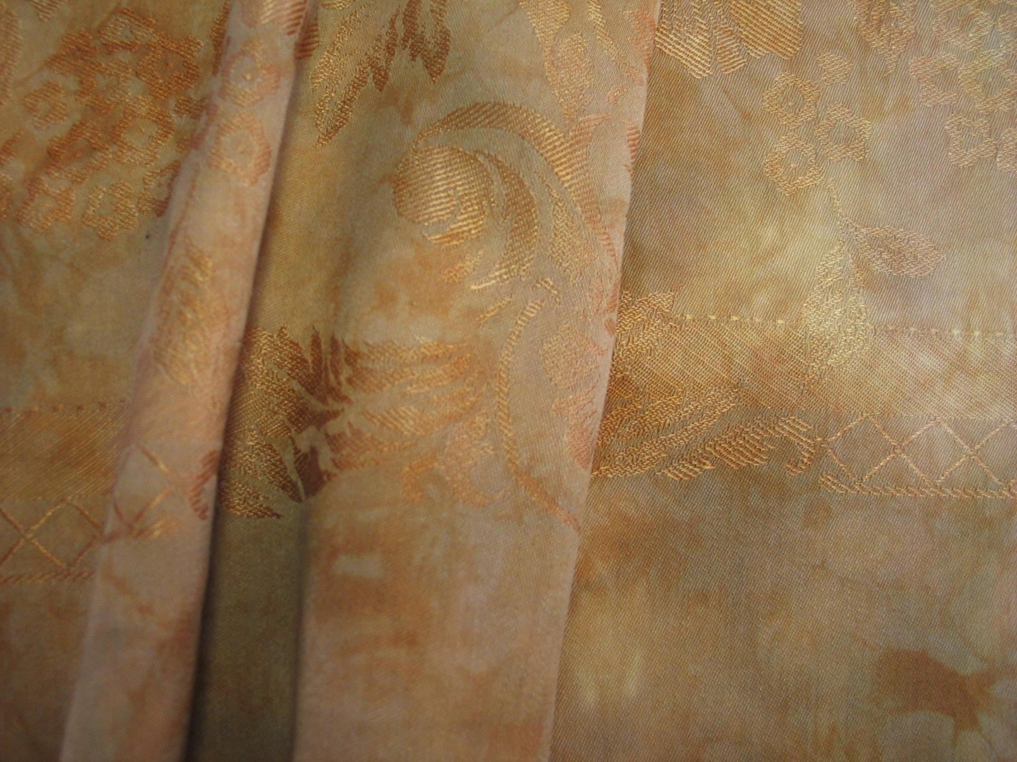 Overdyed Damask Tablecloth - Ochre