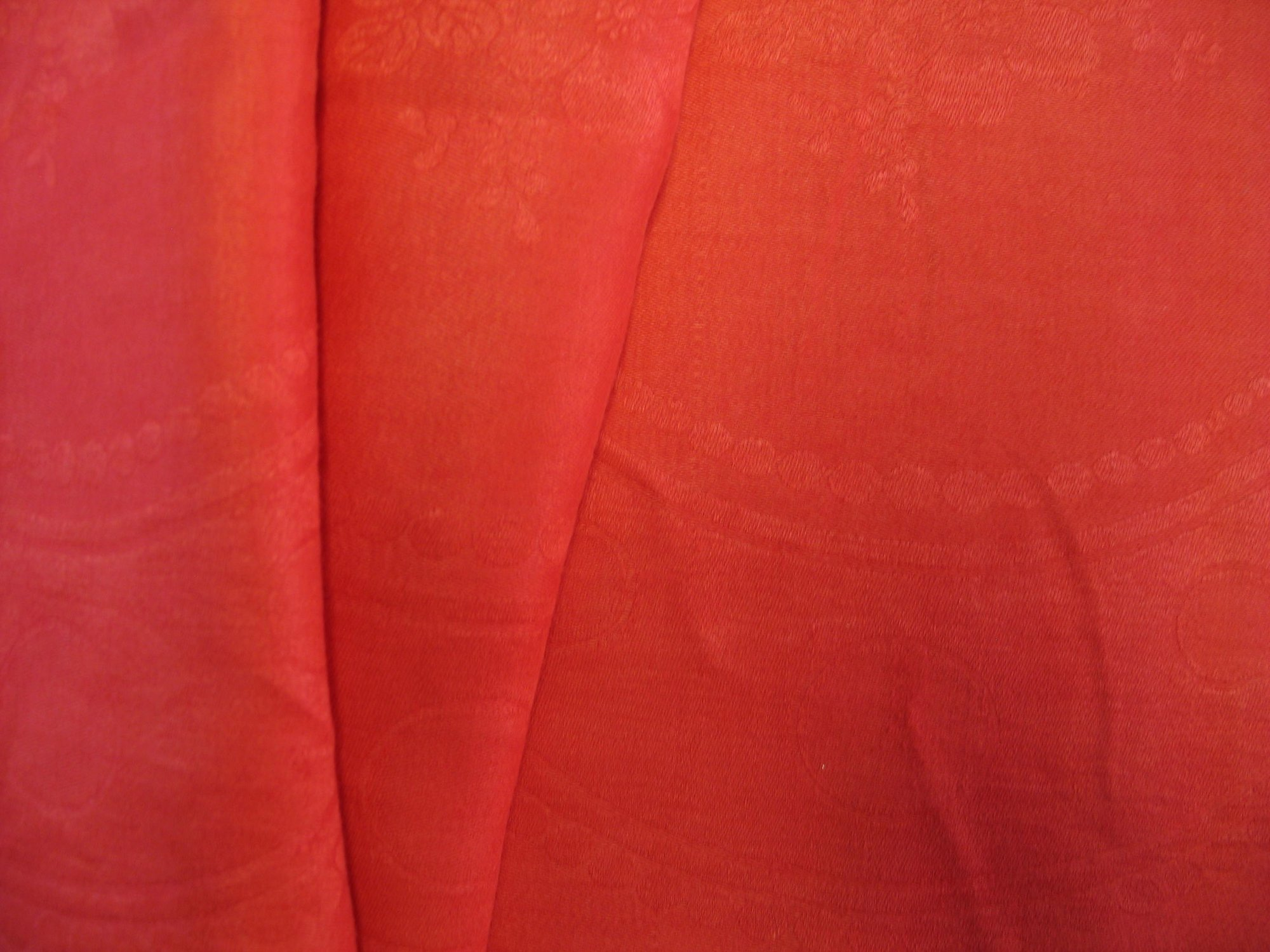 Overdyed Damask Tablecloth - Red-Orange
