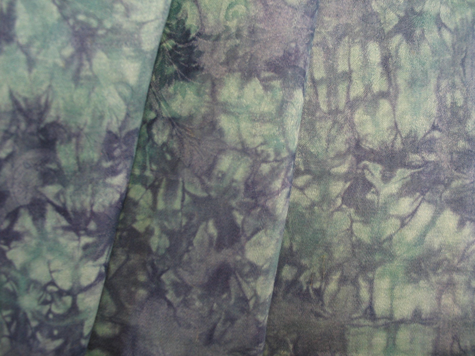 Overdyed Damask Tablecloth - Teal/Navy