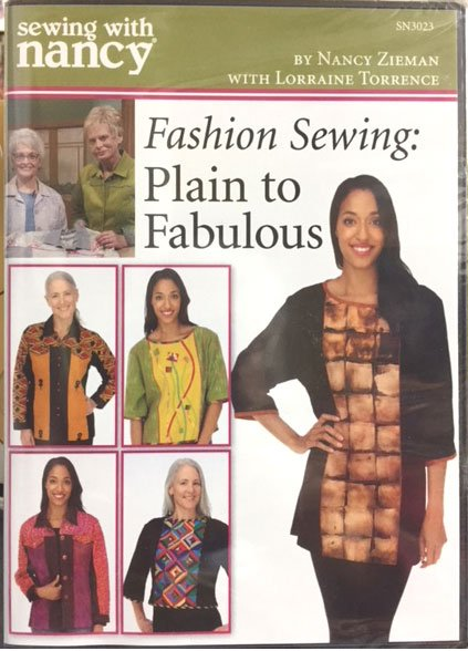 Sewing with Nancy DVD: Fashion Sewing-Plain to Fabulous