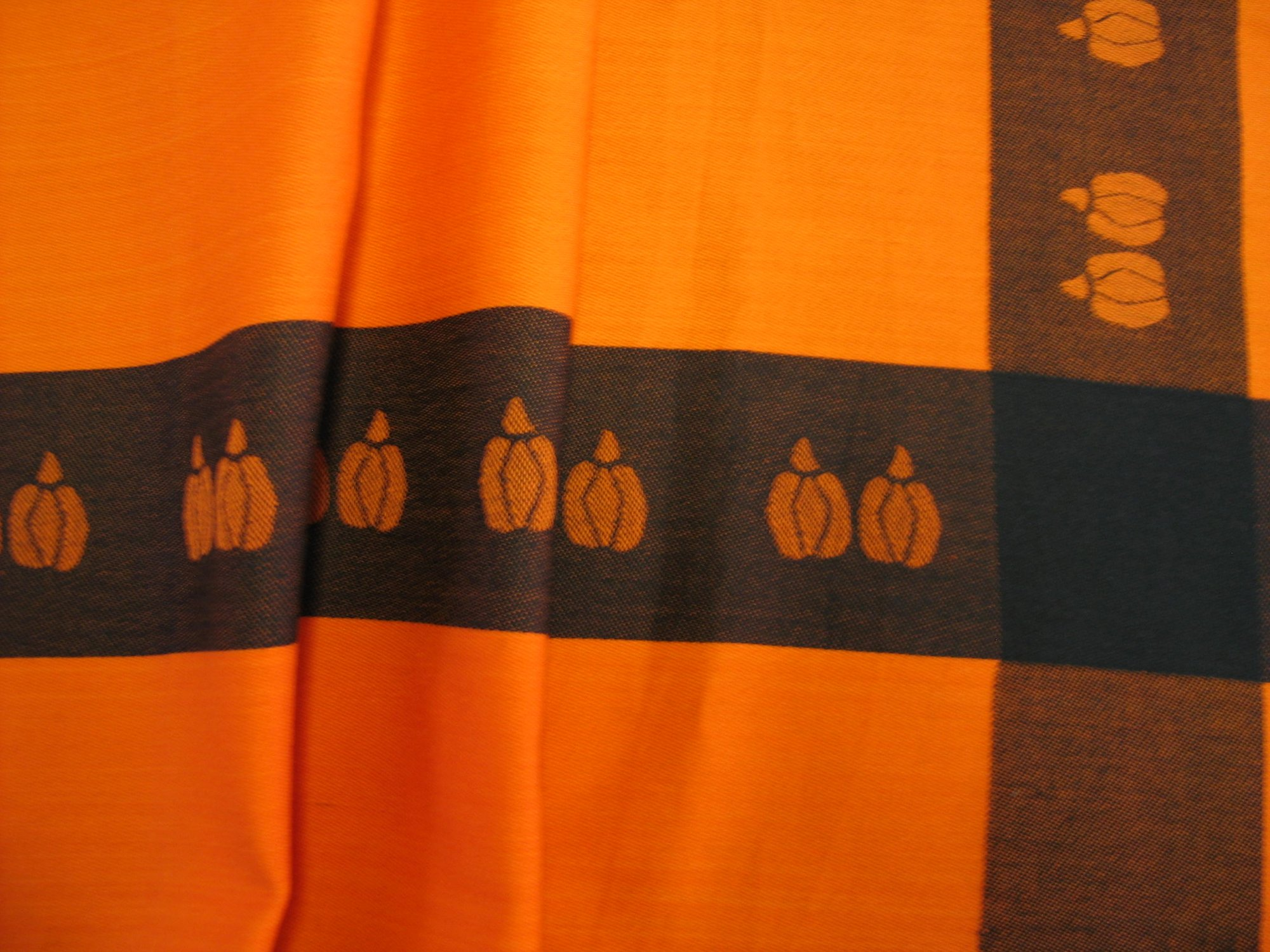Pumpkin Tablecloth - Orange and Black