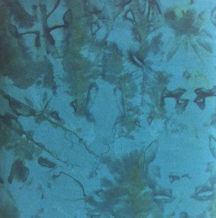 Teal Batik Hand Paint