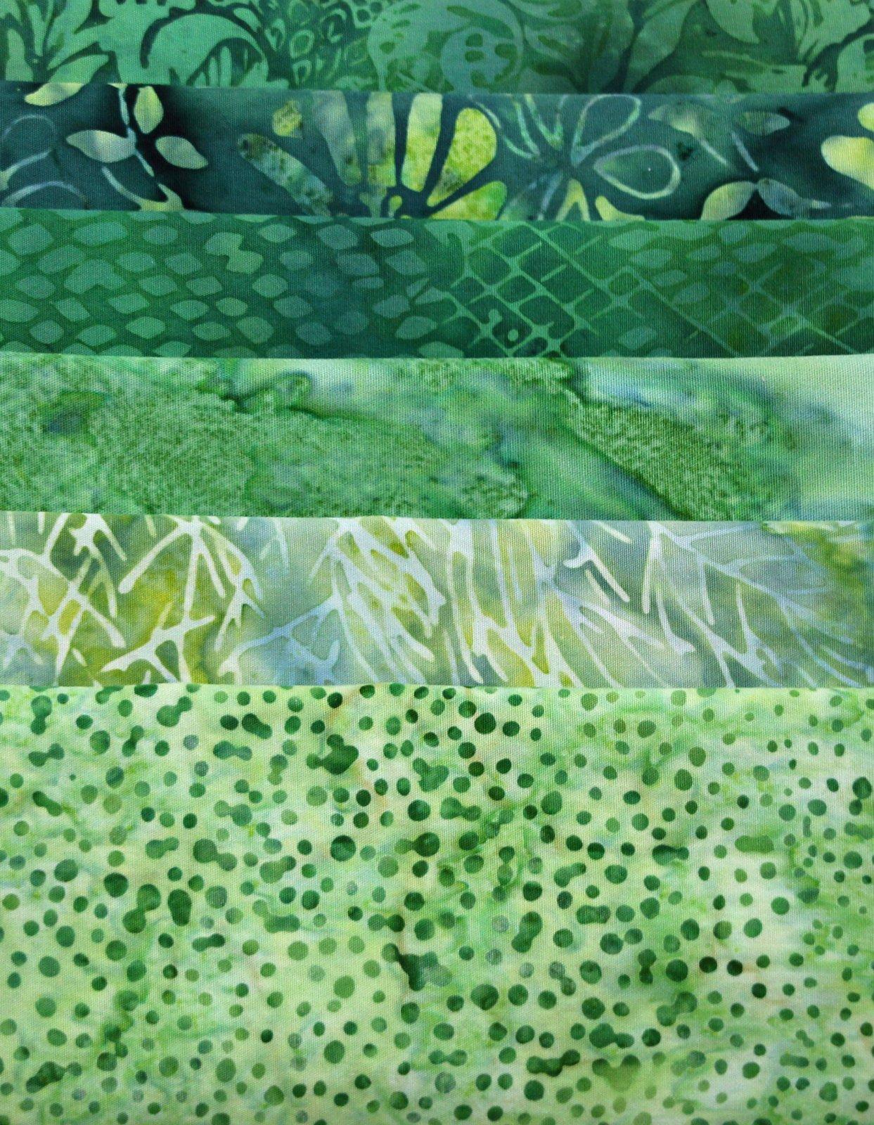 Batik Bundle Grassy Greens