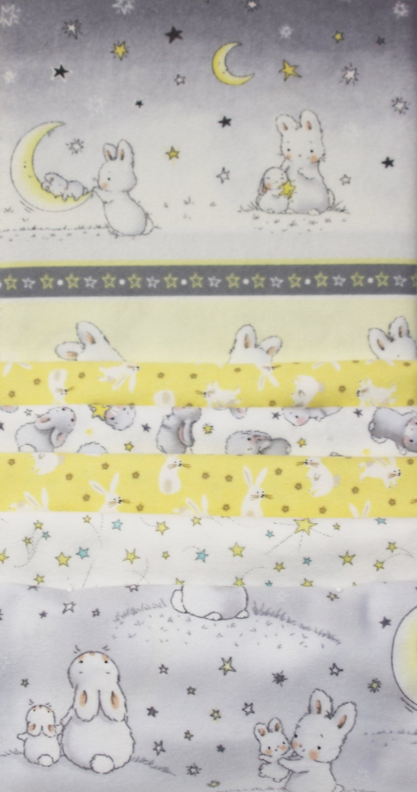 Bunnies Flannel Strip Quilt Kit