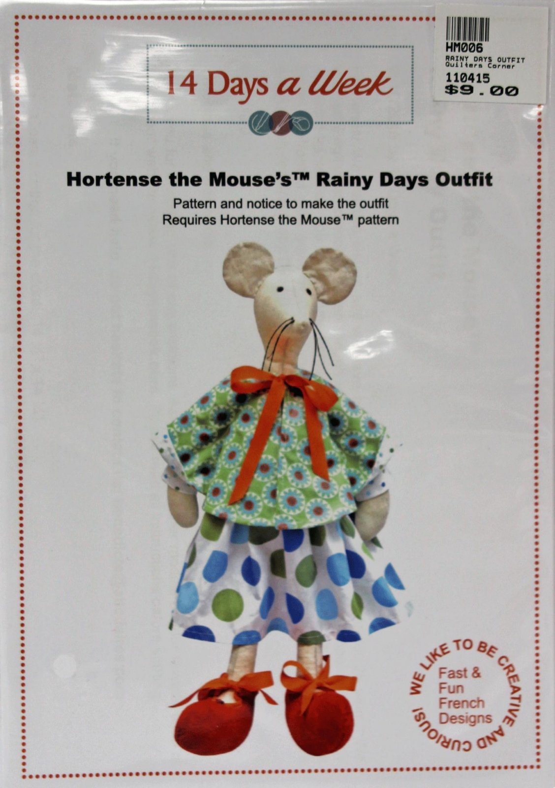 Hortense the Mouse's Rainy Days Outfit Pattern