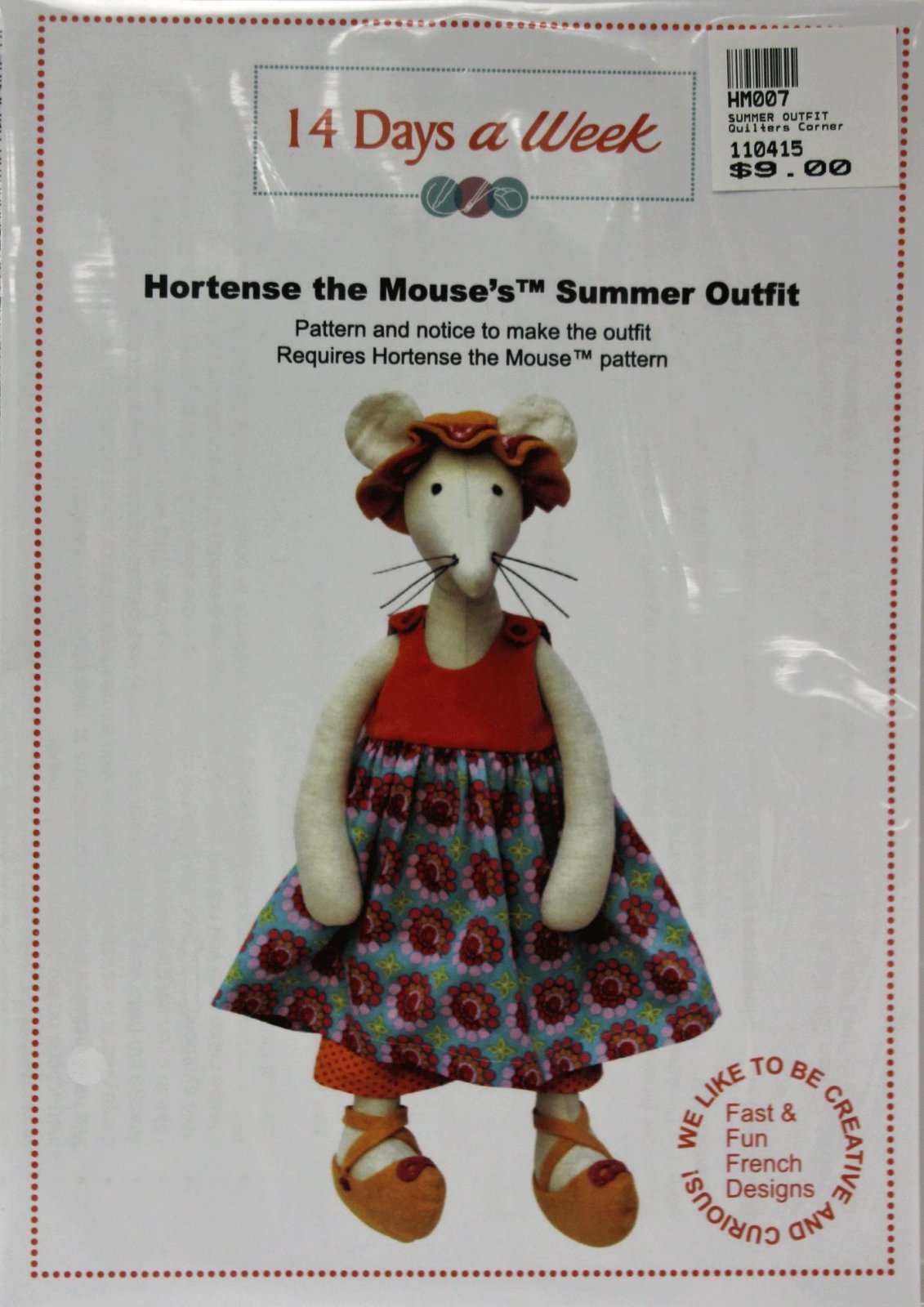 Hortense the Mouse's Summer Outfit Pattern