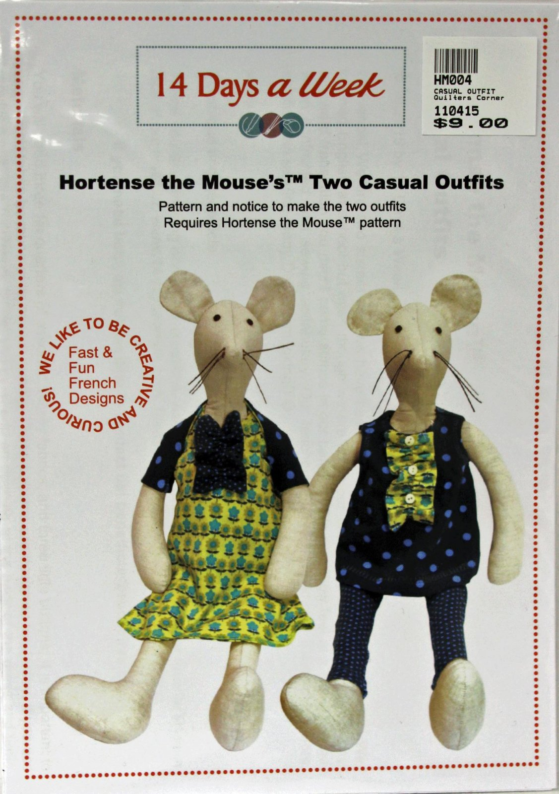 Hortense the Mouse's Two Casual Outfits Pattern