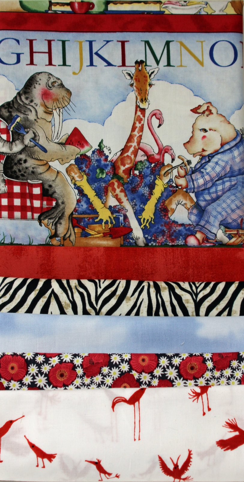 Hungry Animal Strip Quilt Kit
