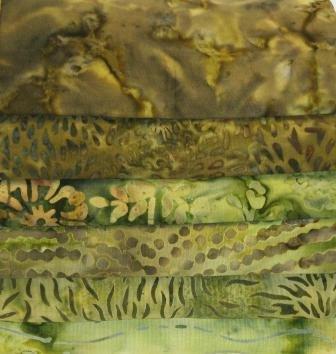 Batik Bundle Olive Greens