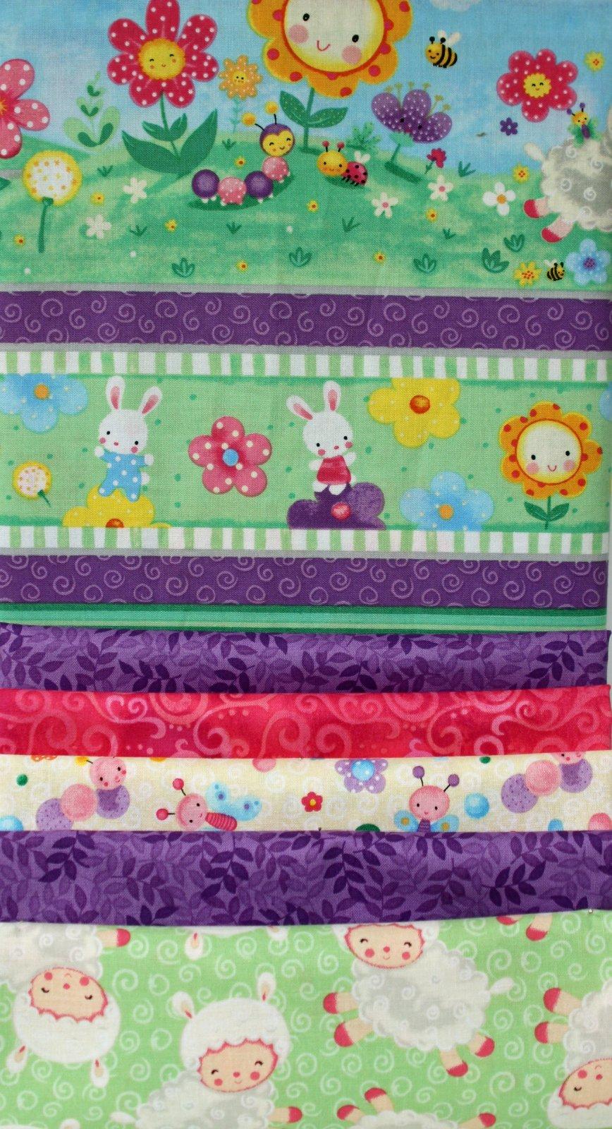 Spring Fling Strip Quilt Kit