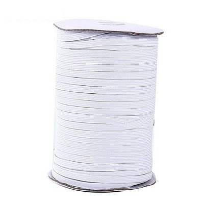 Elastic - White 1/4 inch Knitted