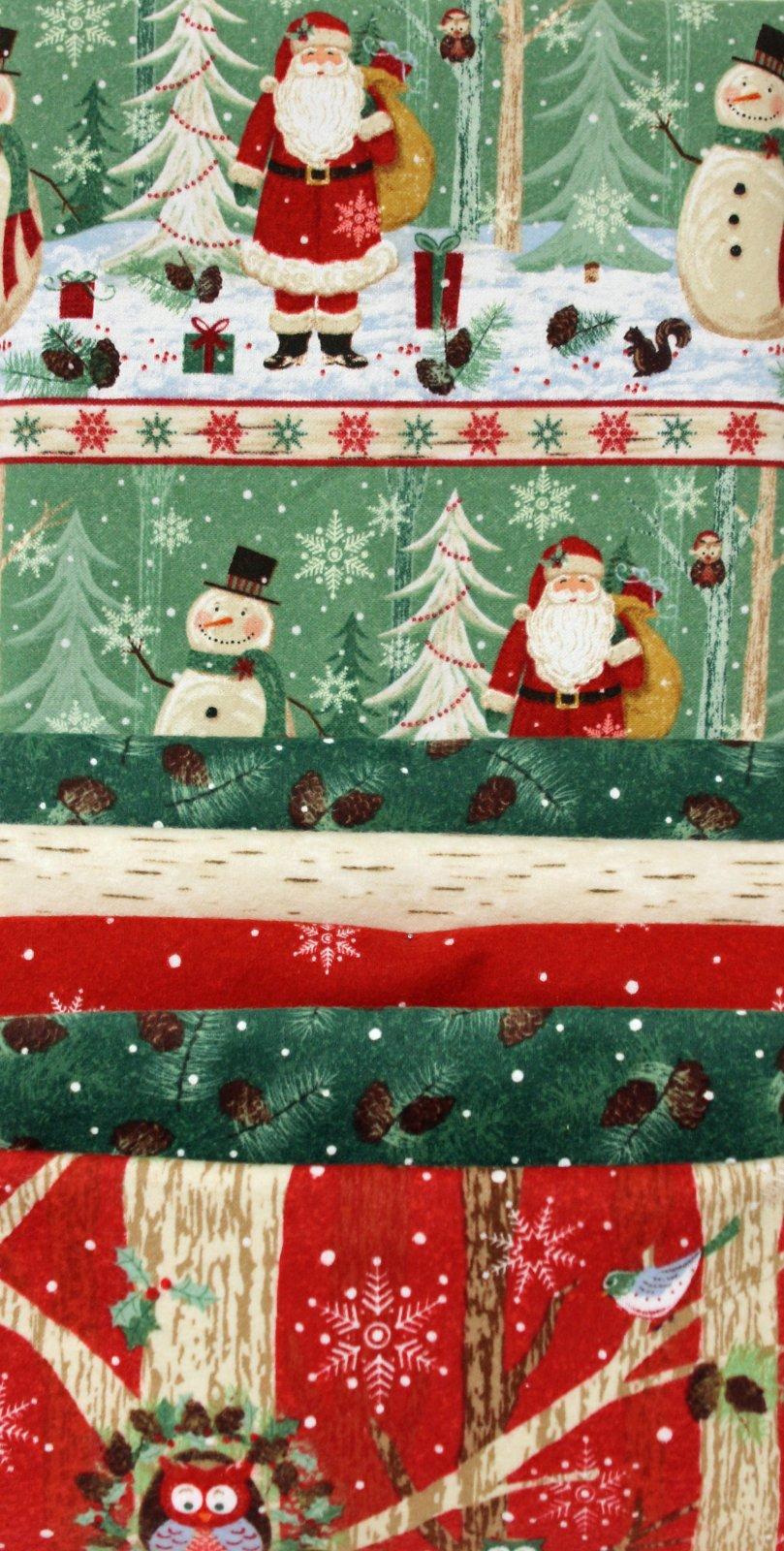 Woodland Noel Flannel Strip Quilt Kit