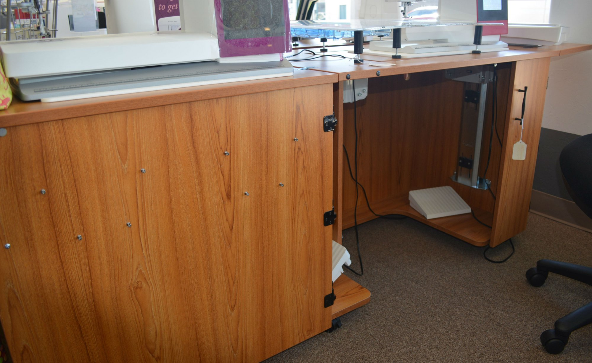 Sylvia Cabinet 2400 Sewing Teak