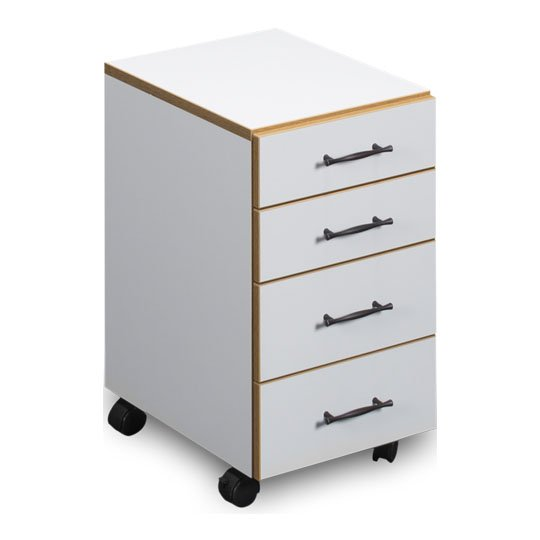 Sylvia 4-Drawer 260 Sewing Chest - White/Oak