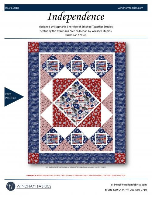 Independence / Brave & Free Twin Quilt Fabric Kit