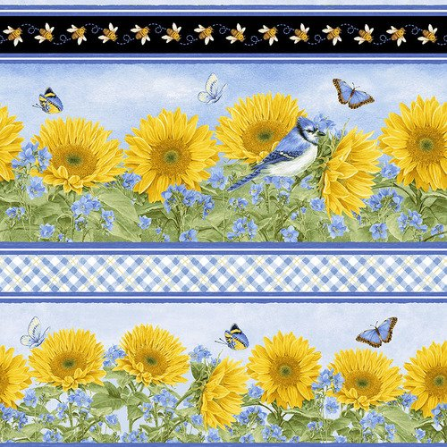 My Sunflower Garden by Henry Glass Repeat Border
