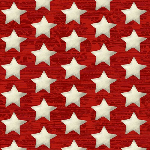 America the Beautiful - Stars on Red