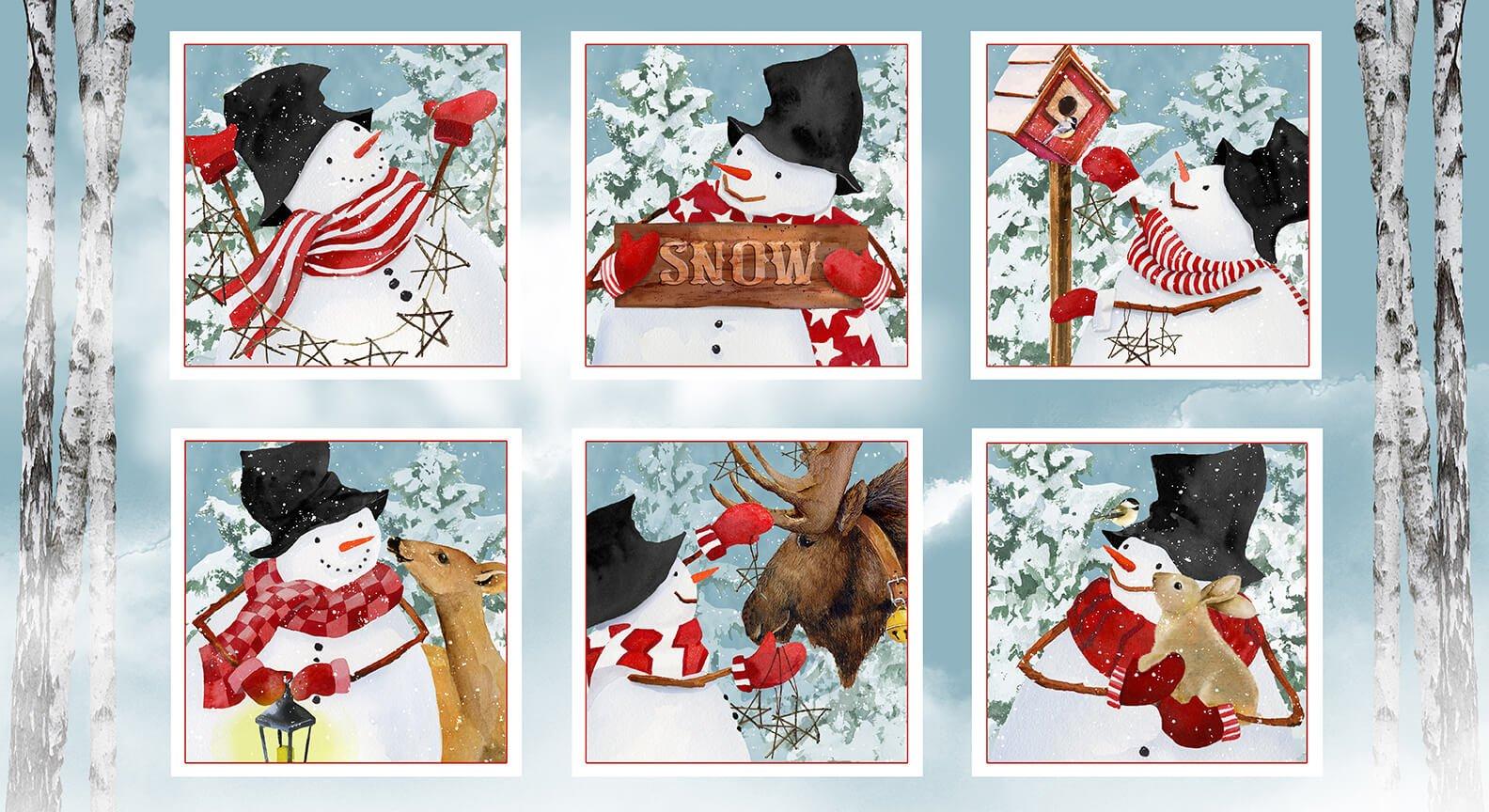 Snow Days - Snowman Blocks 24 Panel