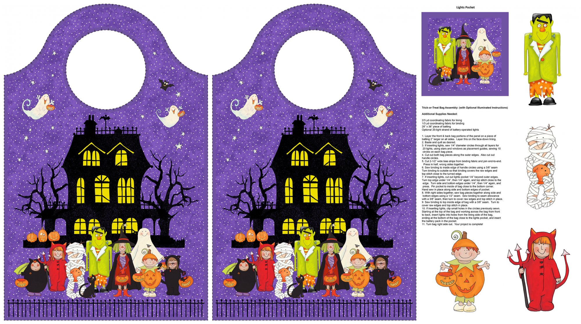 Happy Halloween 24 Treat Bag Panel