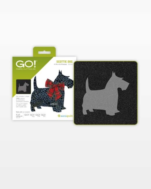 Dog Appliques Scotty Dog Fabric Set of 4 Cutter Quilt Pieces Cutter Quilt Dogs Scotty Dog Die-cuts From Dog Fabrics Quilt