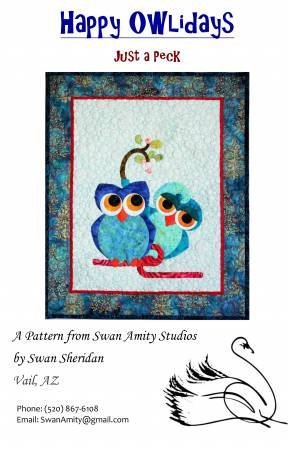 HAPPY OWLIDAYS 'JUST A PECK' PATTERN BY SWAN SHERIDAN