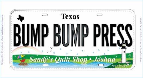 ROW BY ROW CUSTOM FABRICPLATE 2015 'BUMP BUMP PRESS'