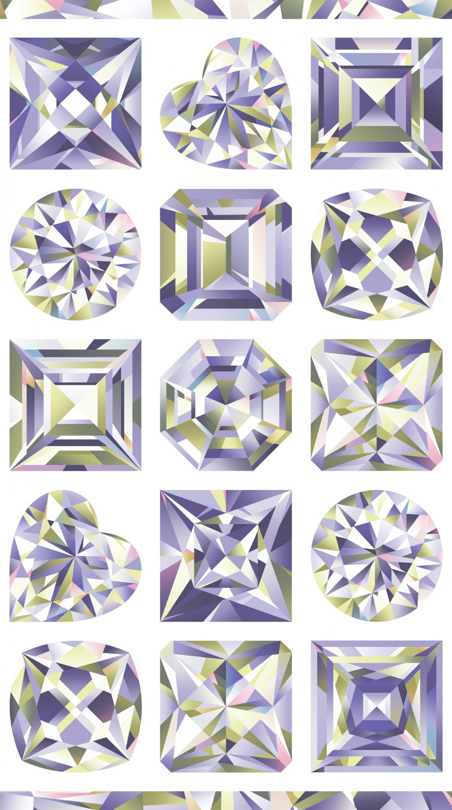 Facets 2/3 yd Gems Panel