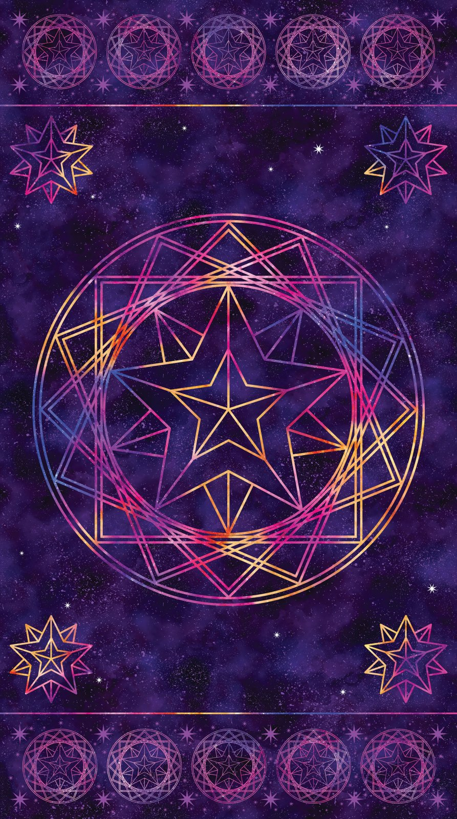 Cosmic Universe - 24  Purple Digital Print Panel