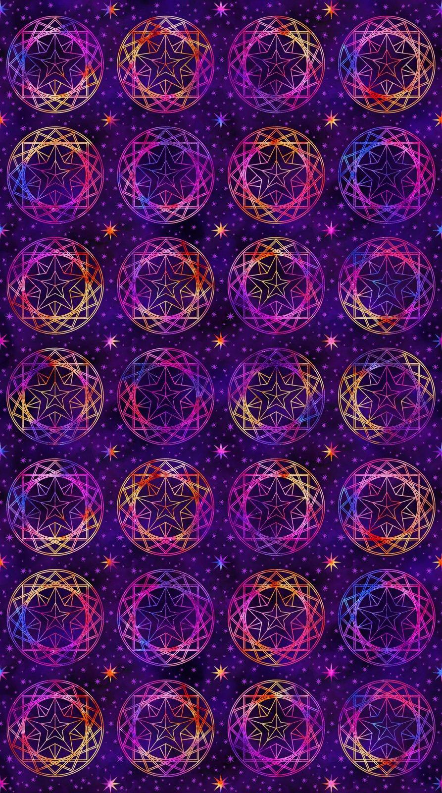 Cosmic Universe -  Large Stars on Purple Digital Print