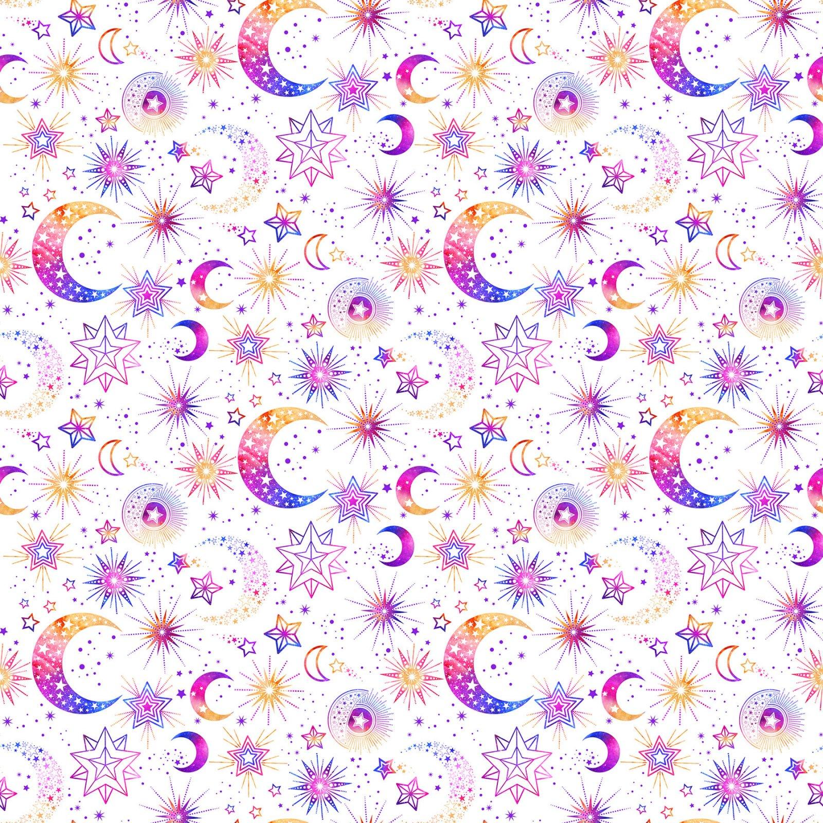 Cosmic Universe -  White Sky Digital Print