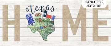 My Home State -  Texas 18 x 43 Panel Digitally Printed
