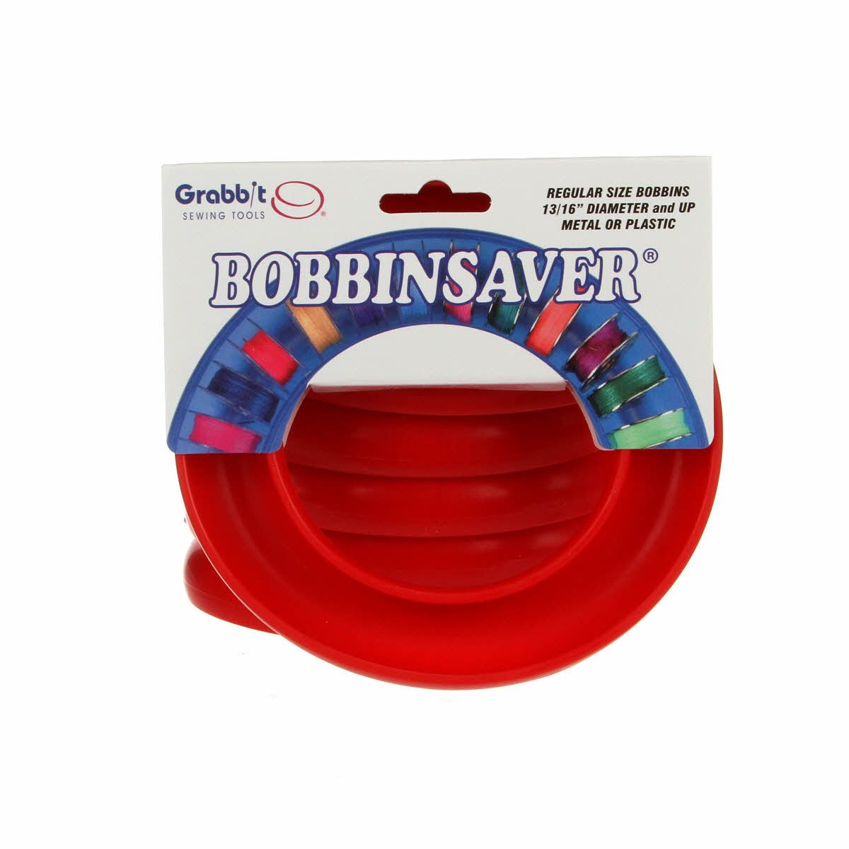 BOBBIN SAVER UNIVERSAL BOBBIN HOLDER BY GRABBIT Red