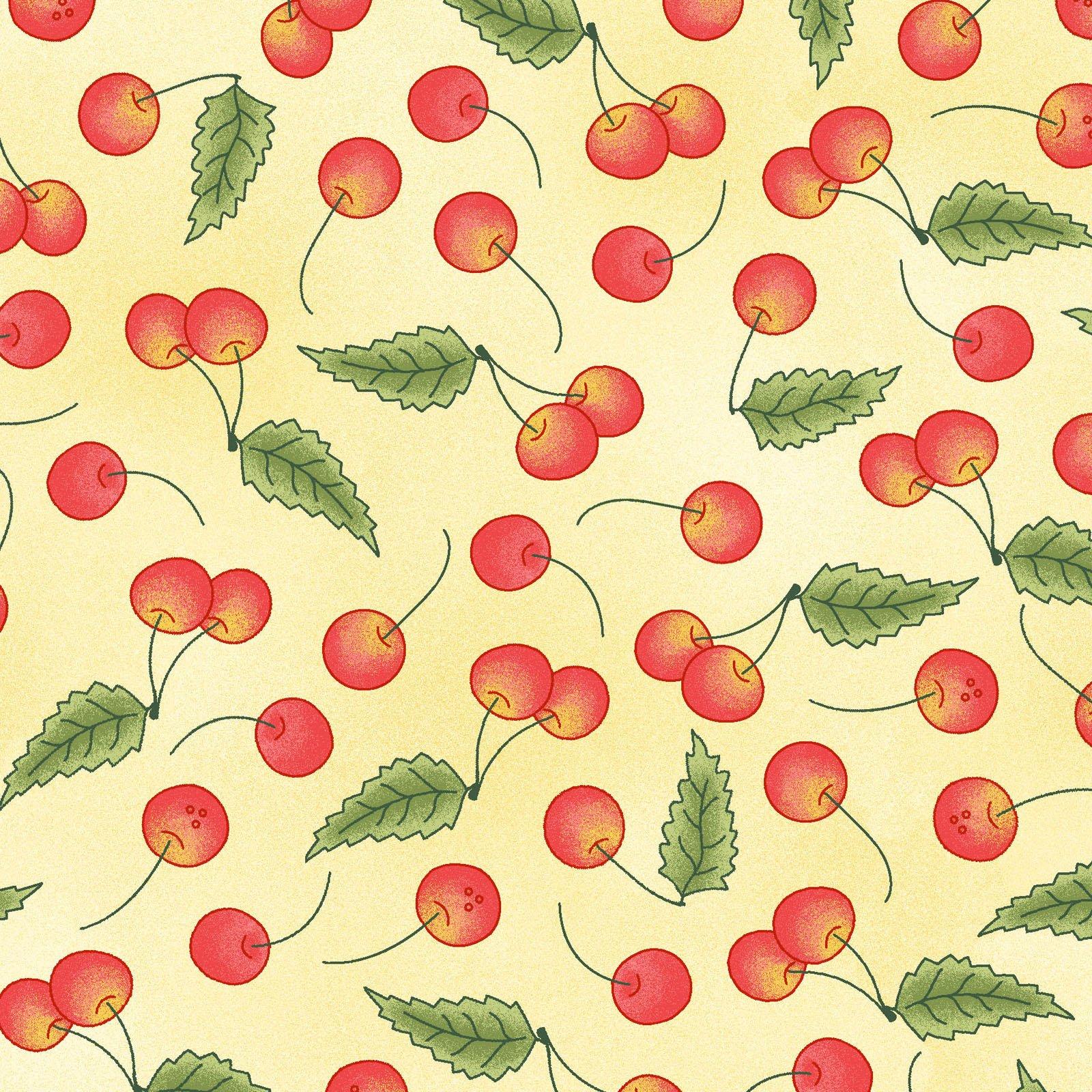 Back Porch Celebration - Cherries on Yellow