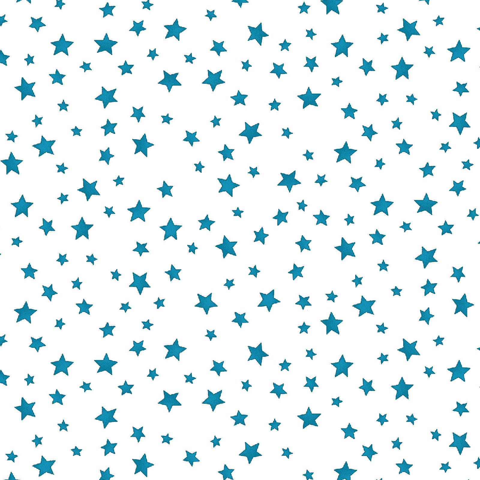 Back Porch Celebration - Blue Stars on White