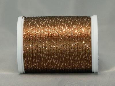YLI Metallic Braid Soft Brown/Antique Gold 328-10-051