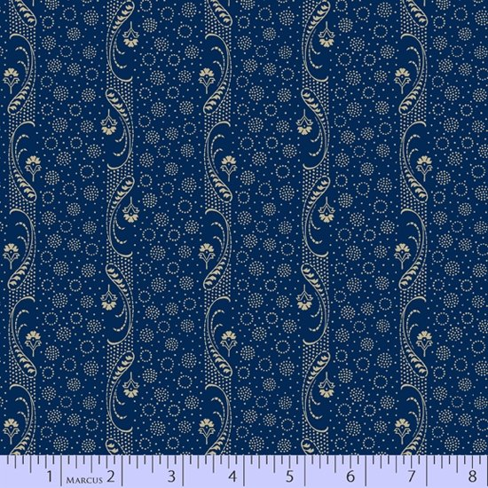 Mood in Blue 0728-0150 Paisley Stripe