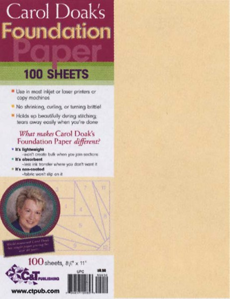 Foundation Paper Carol Doak  8-1/2 x 11