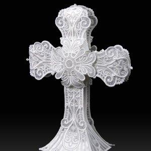 OESD Freestanding Lace Cross